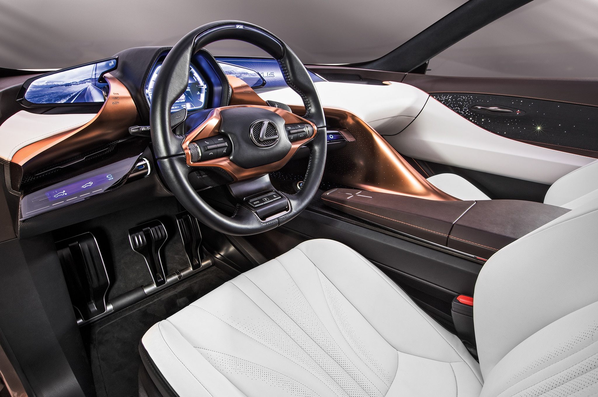 Lexus LF1 Limitless Concept Front Interior Drivers Side